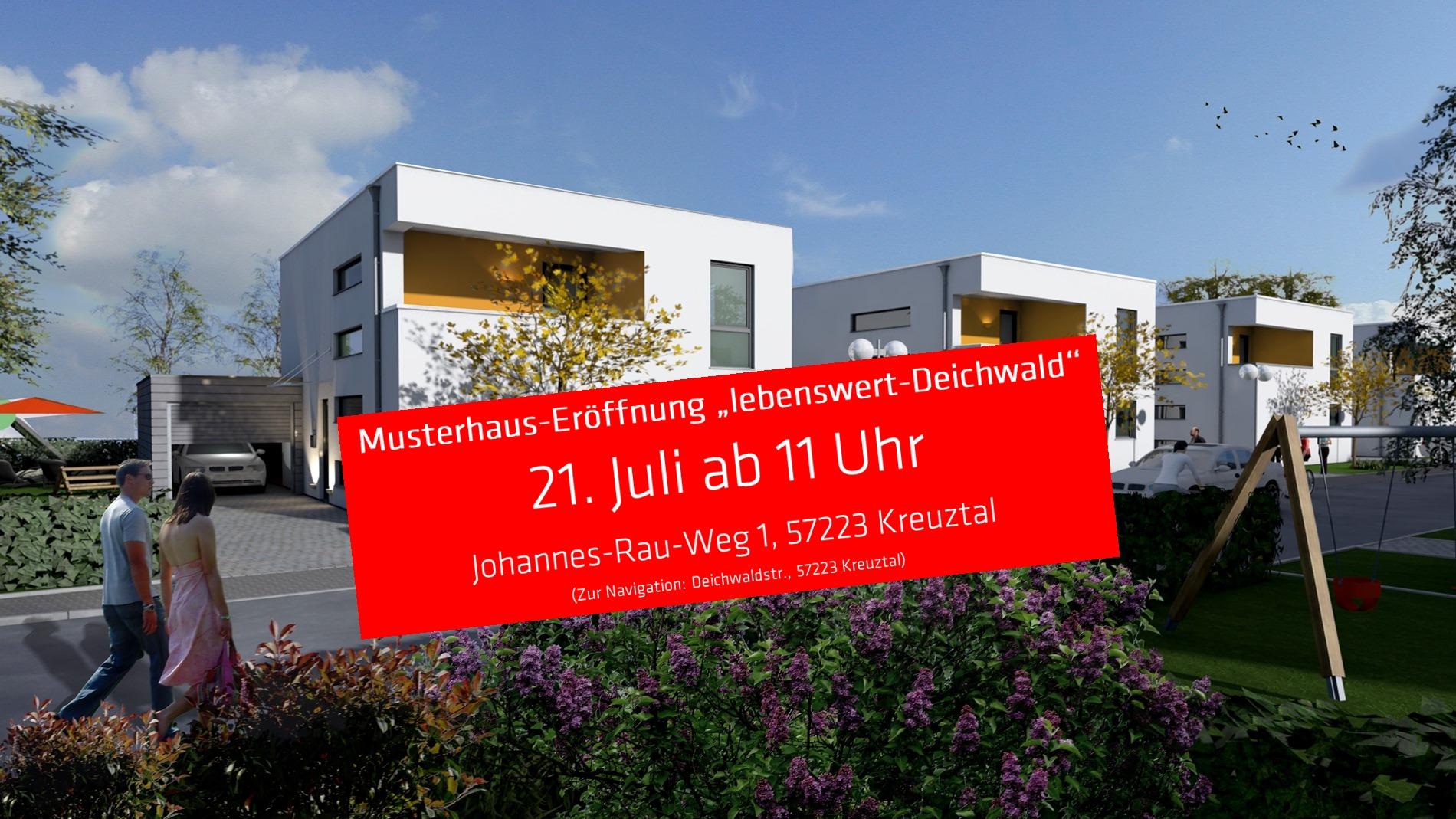 """Eröffnung Musterhaus """"Lebenswert-Deichwald"""" am 21. Juli 2018"""